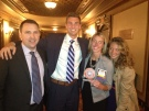 "Tom Ashe, Jared Pimm, Abby Callahan and Sarah D'Elia with the ""Best Places to Work"" award"